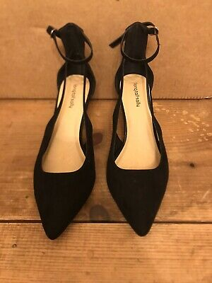 Long Tall Sally Black Evening Heeled Shoes Size 9 BNWT