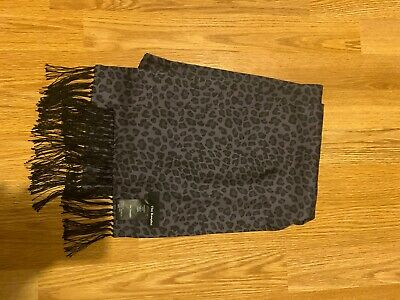 The Kooples Slik Scarf Leopard Print Baby Cat Mens Women's