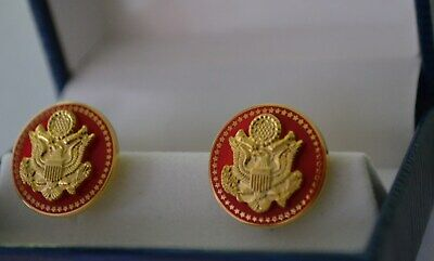 Authentic~High End~50 Star Senate Red Republican Cufflinks~New Issue~Gorgeous!