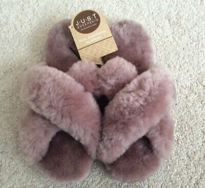 Ladies Just Sheepskin Daisy Sliders - Slippers - Blush - UK7-8 New With Tags