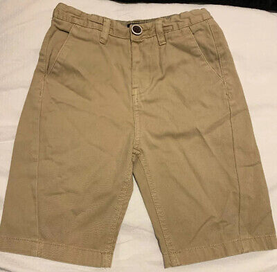 River Island Stone Beige Boys Cotton Shorts, Age 5-6 Years