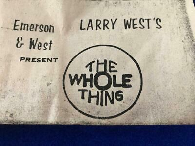 The Whole Thing by Larry West • A Vintage Classic from Emerson West