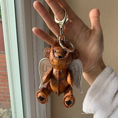 MCM Teddy Bear With Wings Brown Keychain Bag Charm