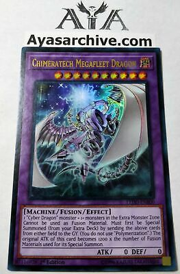 Chimeratech Megafleet Dragon - LEDD-ENB00 - Ultra Rare - 1st Edition NM ayasarch