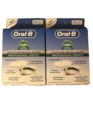 Oral B Nighttime Dental Guard Professional Thin Fit 0210 - 2 Boxes 🔥🔥