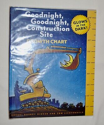 Goodnight, Goodnight, Construction Site Growth Chart Glows in the Dark!