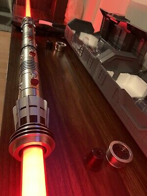 Disney's Galaxy's Edge Legacy DARTH MAUL lightsaber hilt replicas. Double Bladed