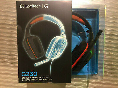 Logitech G230 Stereo Gaming Noise-cancelling Wired Headset | Brand New