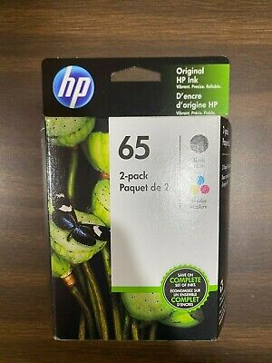 Genuine HP 65 Black Color Combo New Sealed Exp Sep 2021