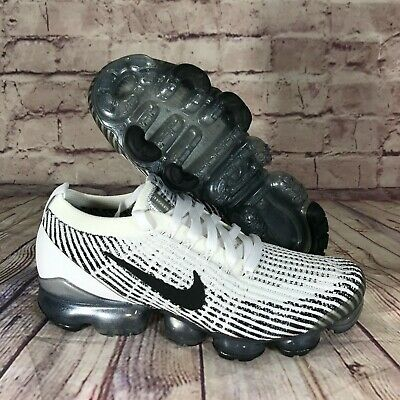 Nike Air Vapormax Flyknit 3 Zebra White/Black AJ6900-105 Men's Size 7.5