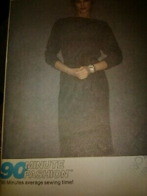 Sewing Pattern McCalls 6703 size 10 misses dress stretch