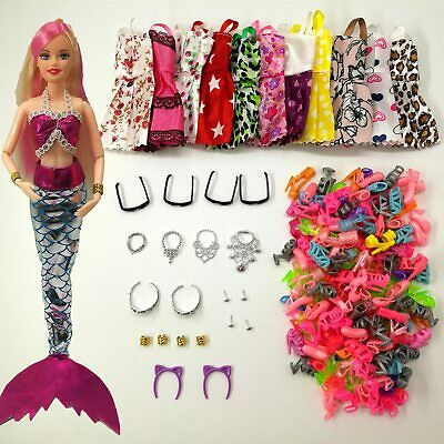 BARBIE SILKSTONE FR TRESSY FASHION DOLL PICTURE HAT PURSE ACCESSORY SET CREAM NW