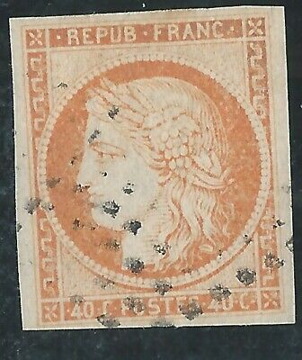 1870.FRANCE-TYPE.CERES N°5  40 c.ORANGE OBLITERE   BELLES MARGES