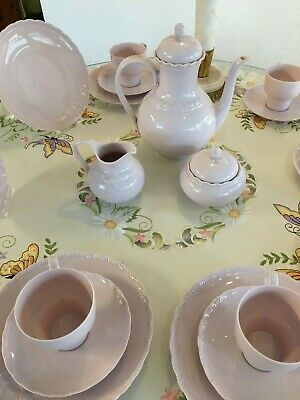 orig. Hutschenreuther Kaffeeservice 6 Pers. - Porzellan Porcelaine Rose Desiree