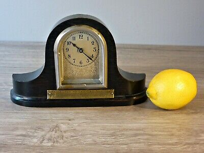 Antique Miniature Mantle Clock Darlaston Volunteer Rifle Corps 1915 (Working)