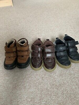 Three Pairs NEXT Boys Boots Size 7 Child Shoes Velcro Bundle