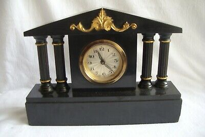 Early 20th Century German Slate mantle Clock.
