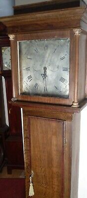 "Antique  Slim Oak  ""  Kirkby ""  Grandfather / Longcase Clock"