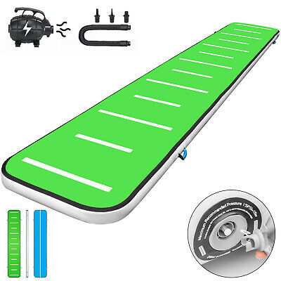 20FT Air Track Inflatable AirTrack Tumbling Gymnastics Mat W/Pump Yoga Home Gym