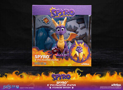 """Spyro the Dragon 8 """" PVC Statue 25cm First 4 Figures Standard Edition New in Box"""