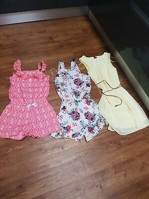 Girls Summer Trio Aged 12/Size 4 Playsuit And Dress