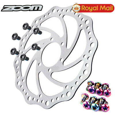 ZOOM 140//160//180//203mm MTB Bike Disc Brake 6 Bolts Rotor T25 Screws 12PCS//Boxed
