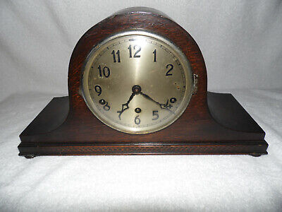 Antique Napoleon Hat Chiming Mantle Clock