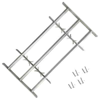 vidaXL Adjustable Security Grille for Windows with 3 Crossbars 500-650mm Safe