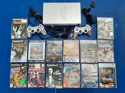 Lot Playstation Ps2 Grise + 20 Jeux