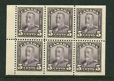 CANADA Scott 153a - LH - 5¢ Violet Scroll Issue Booklet Pane of 6 (.058)