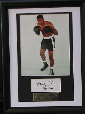 Floyd Patterson Boxing Legend  Signed And  Framed Coa Free P+P
