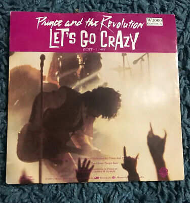 """Prince and the Revolution - Let's Go Crazy/Take Me With U 7"""" Vinyl Record"""