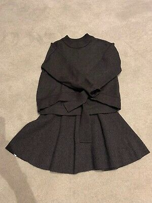 Zara Grey Knitted Top And Skirt Age 7 Immaculate