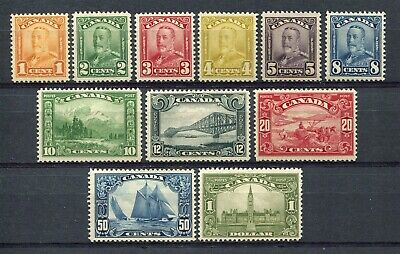 Canada Scott 149 to 159 - LH - Complete Set of King George V Scroll Issue (.012)