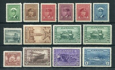 CANADA Scott 249 to 262 - NH - Complete Set King George VI War Issue (.080)