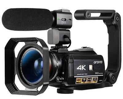 ORDRO HDR-AC3 Video Camera Ultra HD 4k Camcorder with Microphone,1080P 60fps