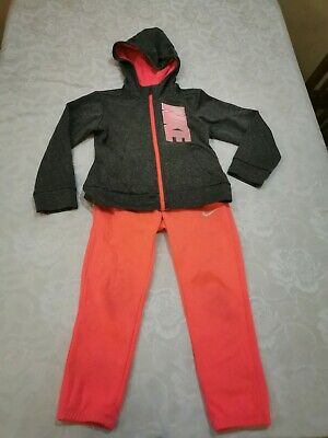 Girls Nike Pink/grey Tracksuit Dry Fit 4-5 Years
