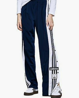 Adidas Originals Pants Side Button Casual Loose Trousers CV8276