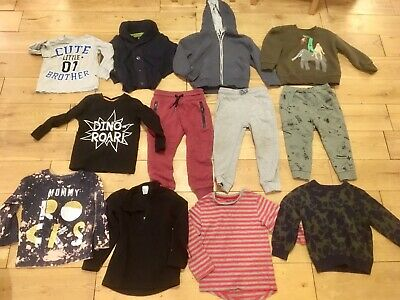 Boys 3-4 Years Bundle Lots Of Next Ted Baker Joggers Tops Hoodie Jacket Brother