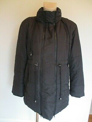 Jojo Maman Bebe Maternity & Beyond Black Quilted Jacket Coat Size 14