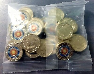 2018 Lest We Forget - Eternal Flame $2 Coloured Coin Bag (25 Coins)