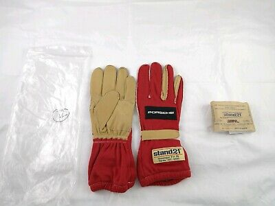 Stand 21 Porche Racing Gloves Size 12 Kart Outward Seem Red FIA 86 IS0 6940 New