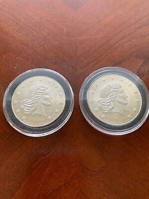 1981 Lot of 2 American Eagle Silver Rounds World Wide Mint 1 oz .999