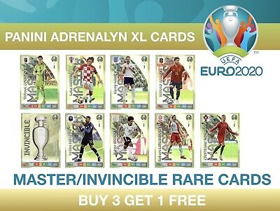 Panini UEFA Euro 2020 Adrenalyn XL MASTER/INVINCIBLE RARE CARDS #1 - 9