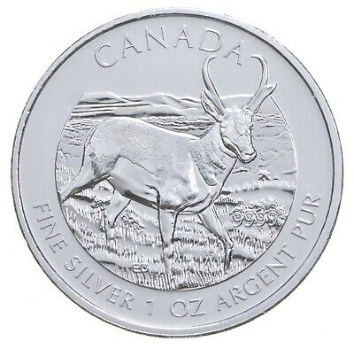 2013 1 oz Canada Silver Deer $5 Coin .9999 Fine Brilliant Uncirculated *219
