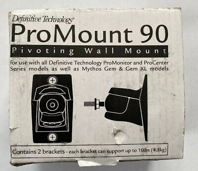 Definitive Technology ProMount 90 Articulating Wall Mount Bracket (Pair, Black)