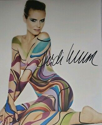 Heidi Klum Hand Signed 8x10 Photo w/Holo COA