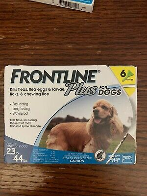 Frontline Plus for Dogs 23-44lb Flea Tick & Lice Treatment 6 Dose 6 Month