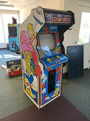 Original Atari FoodFight Dedicated Arcade Game Cabinet - Completely Restored