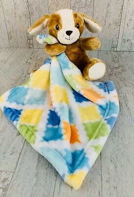 Little Miracles Tan Puppy Dog Plush Baby Security Blanket Lovey